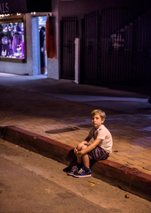 Lost Boy on Curb (1 of 1)