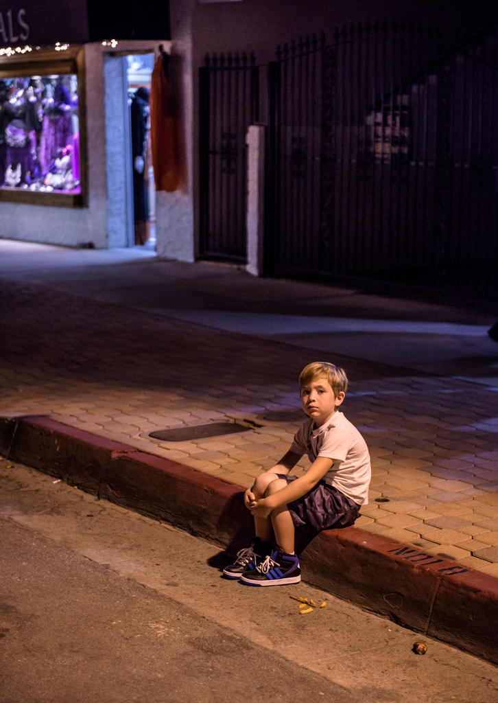 Lost Boy on Curb (1 of 1)
